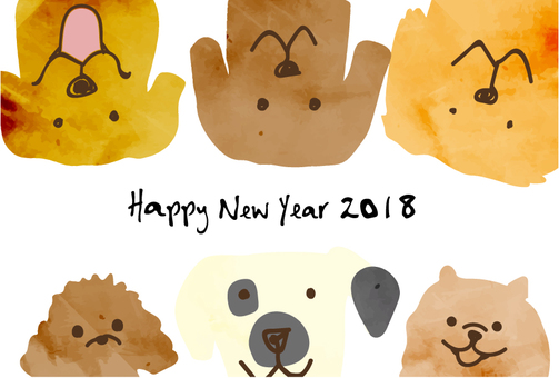 New Year card template 2018_13