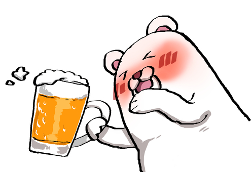 White bear and beer