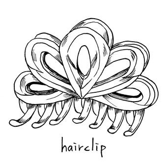 Hair clip pen painting