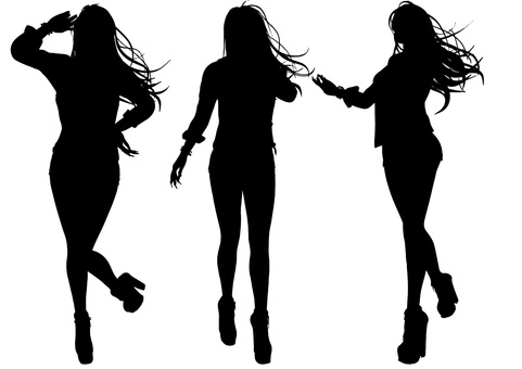 Silhouette of a posed woman