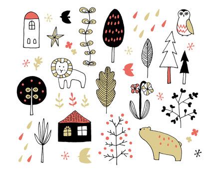 Stiftmalerei der skandinavischen Art verschieden