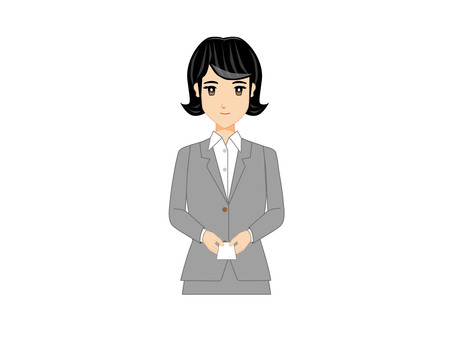 Working Woman (Business card exchange 1)