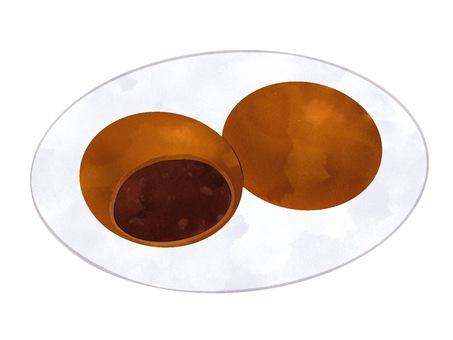 Illustration of Manju (brown sugar)
