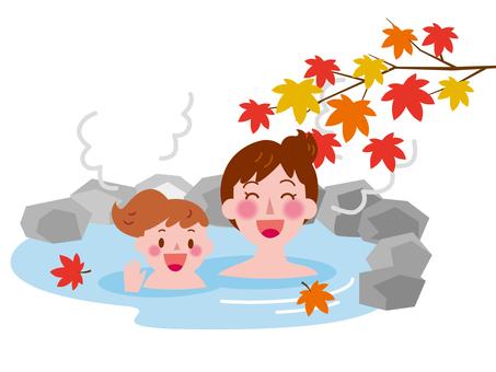 Autumn open-air bath -2