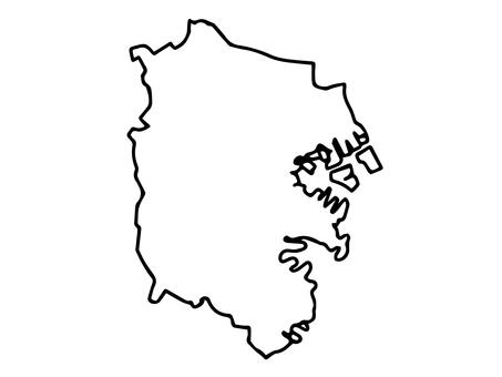 요코하마시의 간이지도 (요코하마)