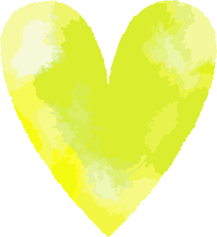 Heart _ watercolor _ 07 _ green