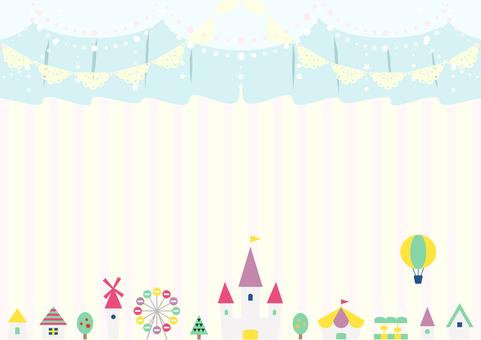 Amusement park curtain curtain party