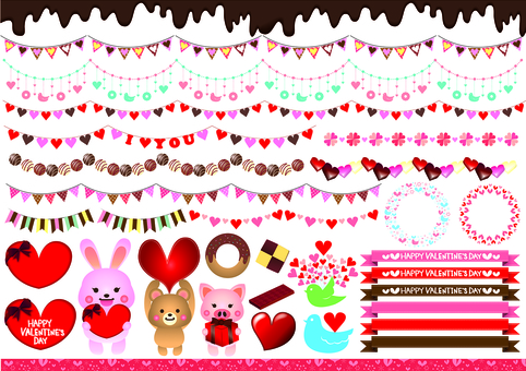 Valentine's Heartline Collection and Illustration Collection