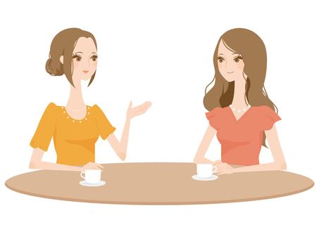 誰喝茶的婦女