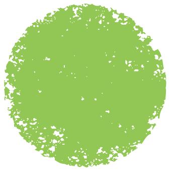 Stamp circle _ yellow green _ cs