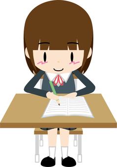 Studying 01 (female student)