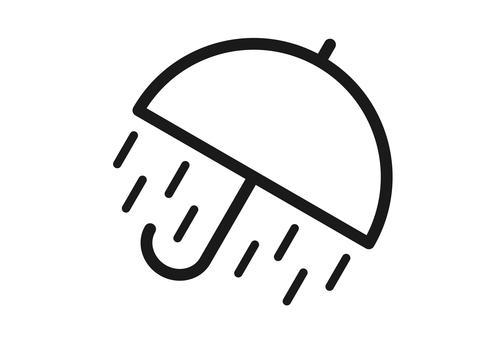 大雨の天気アイコン
