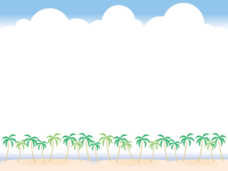 Background · Palm trees and beach
