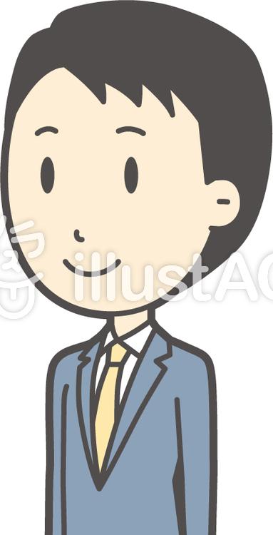 スーツ男性ネイビー-240-バストのイラスト
