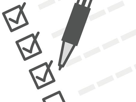 Checklist _ black ballpoint pen