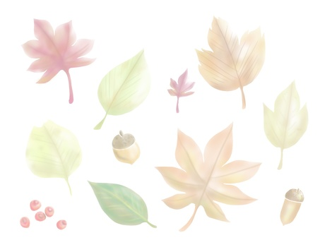 Autumn leaves (color thin version)