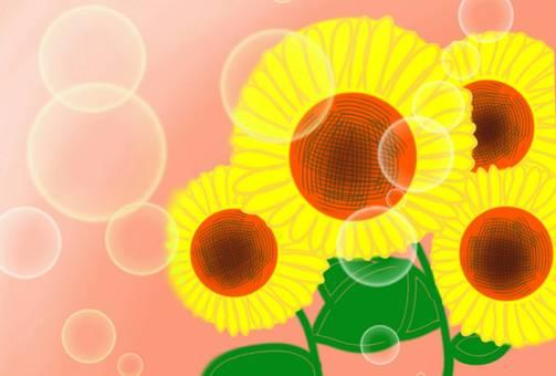Sunflower background wallpaper summer vacation