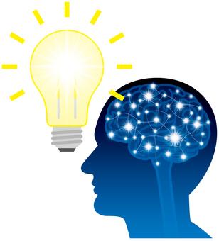 Brain light bulb idea