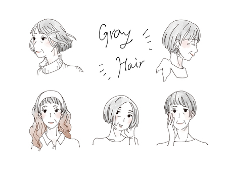 Gray hair hairstyle