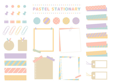 Stationery title material set