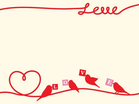 Bird and heart message card