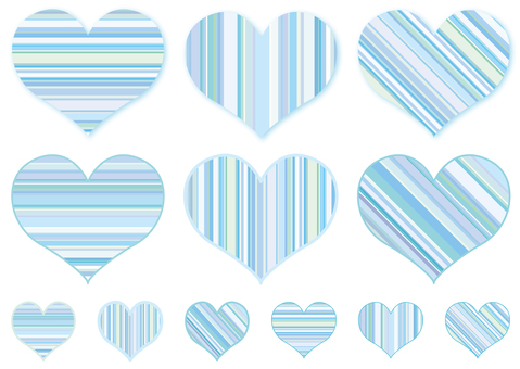 Heart mark ♡ Heart shaped striped pattern background
