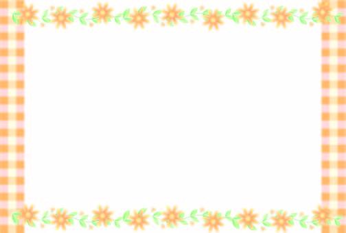 Check & flower frame 2