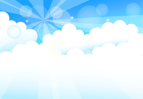 Empty cloud background