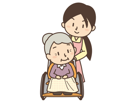 D003_ woman and grandmother of care