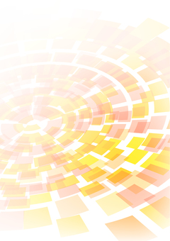 Pastel tone orange concentric circles vertical background material