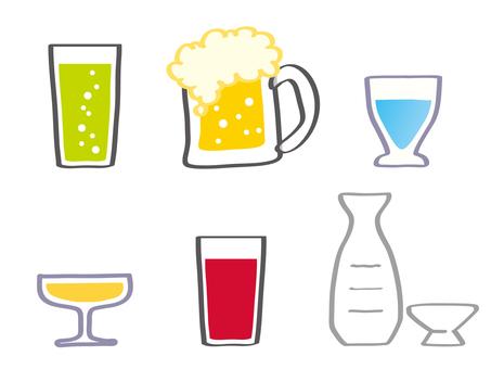 酒精和酒精圖標集