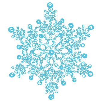 Snowflake handwriting