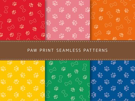 Pattern set 2 of paws