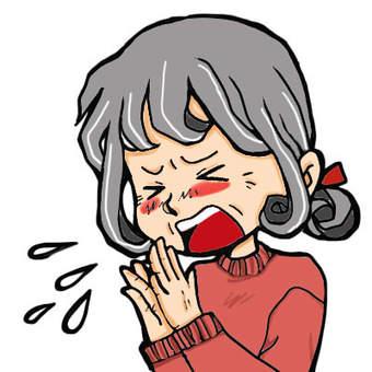 Elderly people who sneeze