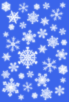 Snow crystal frame · blue · reverse side