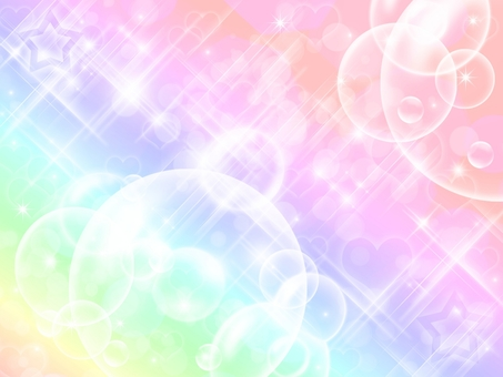Background · Heart and shabbun ball and rainbow color · · ·