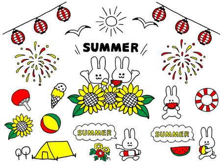 Rabbit summer set (simple)