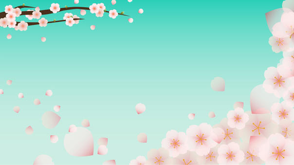 Sakura Message Card Blue