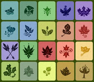디자인 나뭇잎의 컬렉션