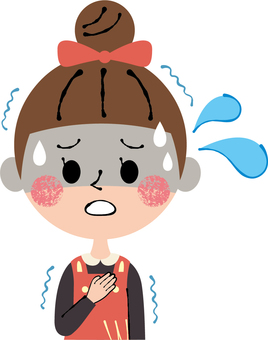 Children girls' colds chills chills cold tension uneasiness