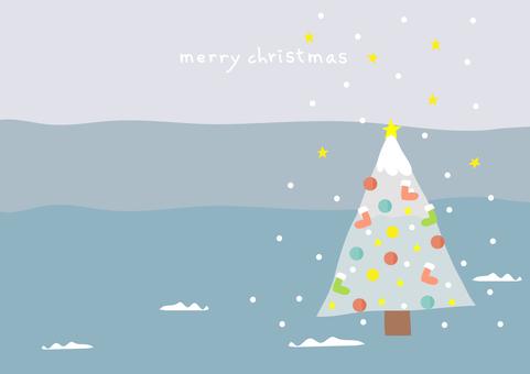 Christmas falling stars