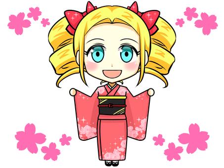 Foreign women kimono