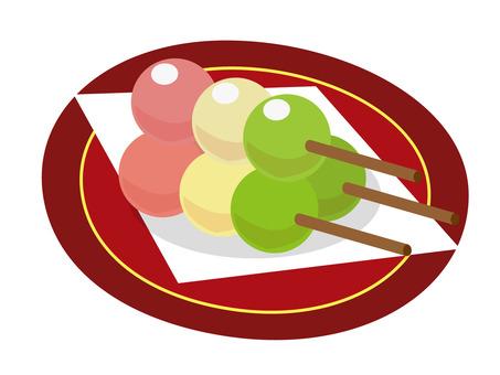 Three color dumpling