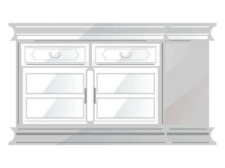 Antique furniture chest