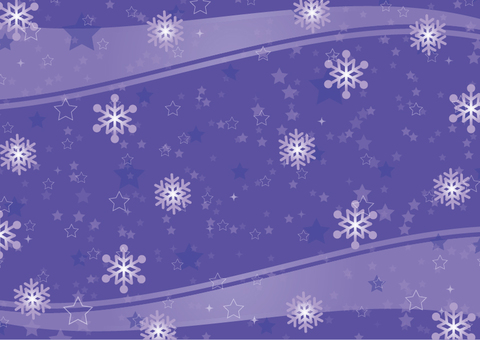 Star and snow background Blue