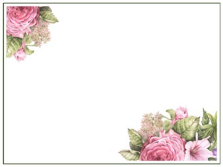 Letter background 3-rose garden