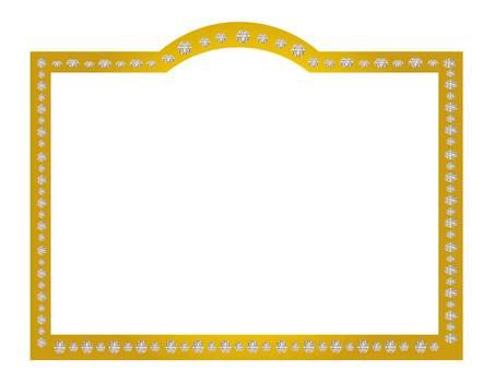 Gold diamond frame