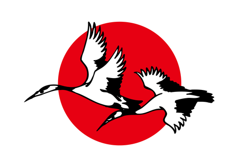 Crane and Hinomaru