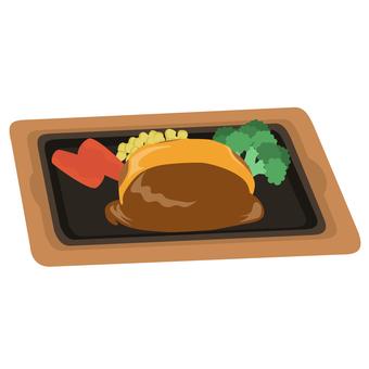 Cheese hamburger iron plate