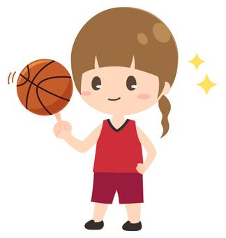 バスケットボール単品_女の子
